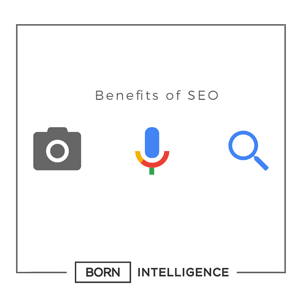 Born Intelligence, Born Intelligence Blog, Born Intelligence Infographic, Infographic, Infograph, Benefits of SEO, SEO, Search Engine Optimization, Online research, Online search, Marketeers, B2B marketers, marketing strategy, Online Marketing