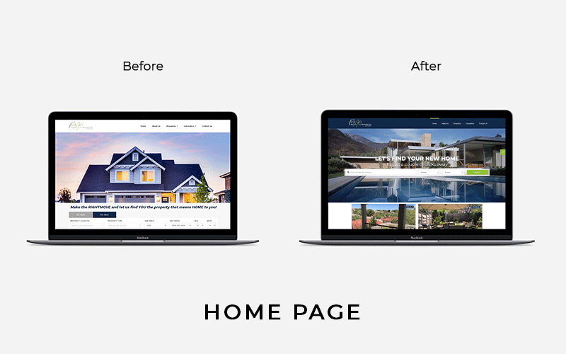 Born Intelligence, Website, Website Redesign, Website Design, Website Development, Website redesign before and after, website revamp, website redesign strategy, property listing website, property website, Rightmove Properties Namibia,
