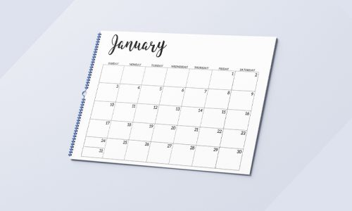 Simplistic Printable calendar 2021